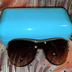 Tiffany women's gold-framed sunglasses